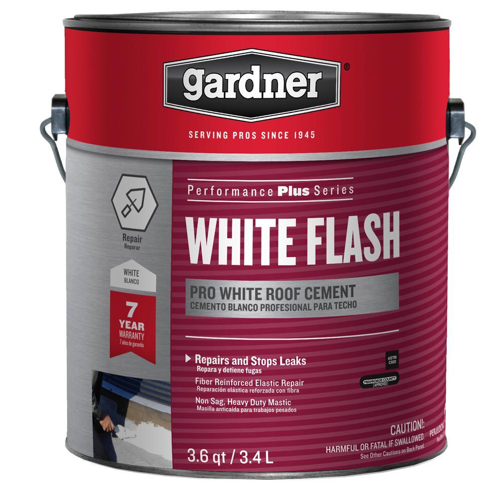 Gardner 3 6 qt white flash pro white roof cement sk 4401 for Gardner white credit