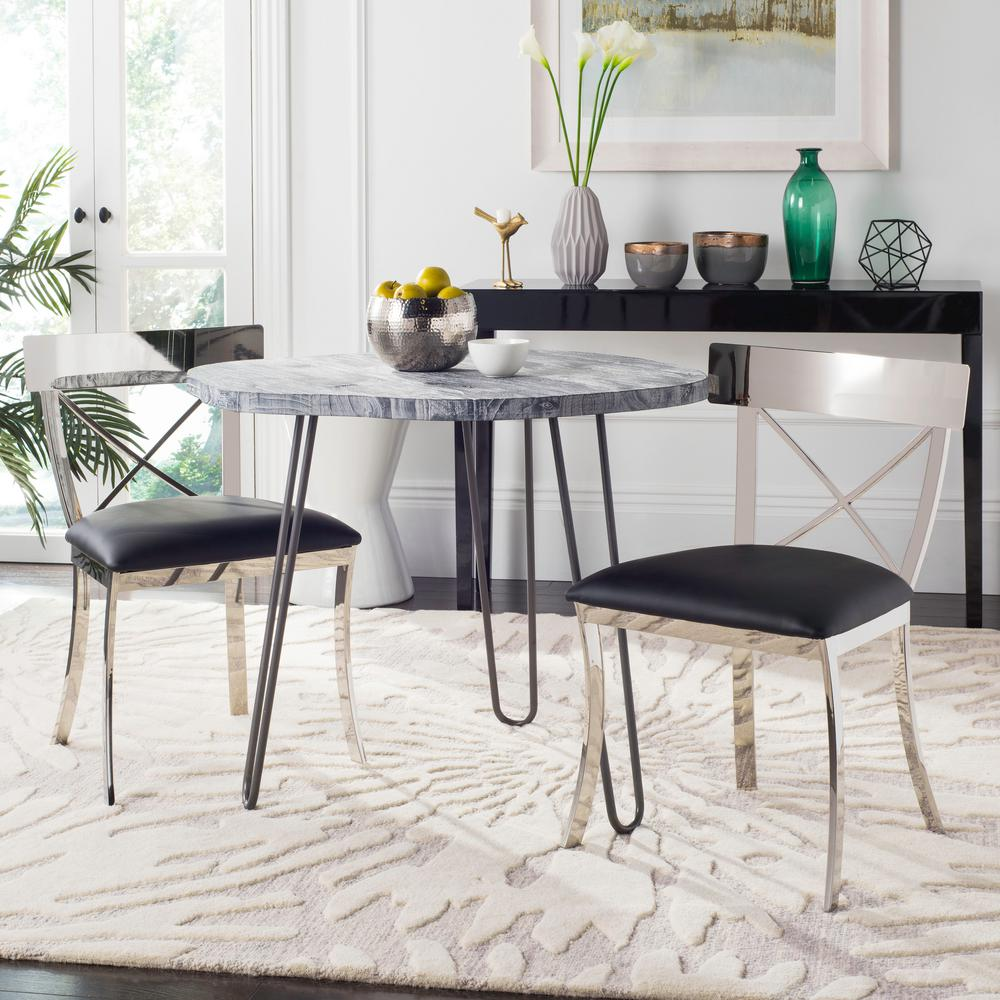 safavieh zoey black 19 in h side chair set of 2 fox2036a set2 the home depot. Black Bedroom Furniture Sets. Home Design Ideas