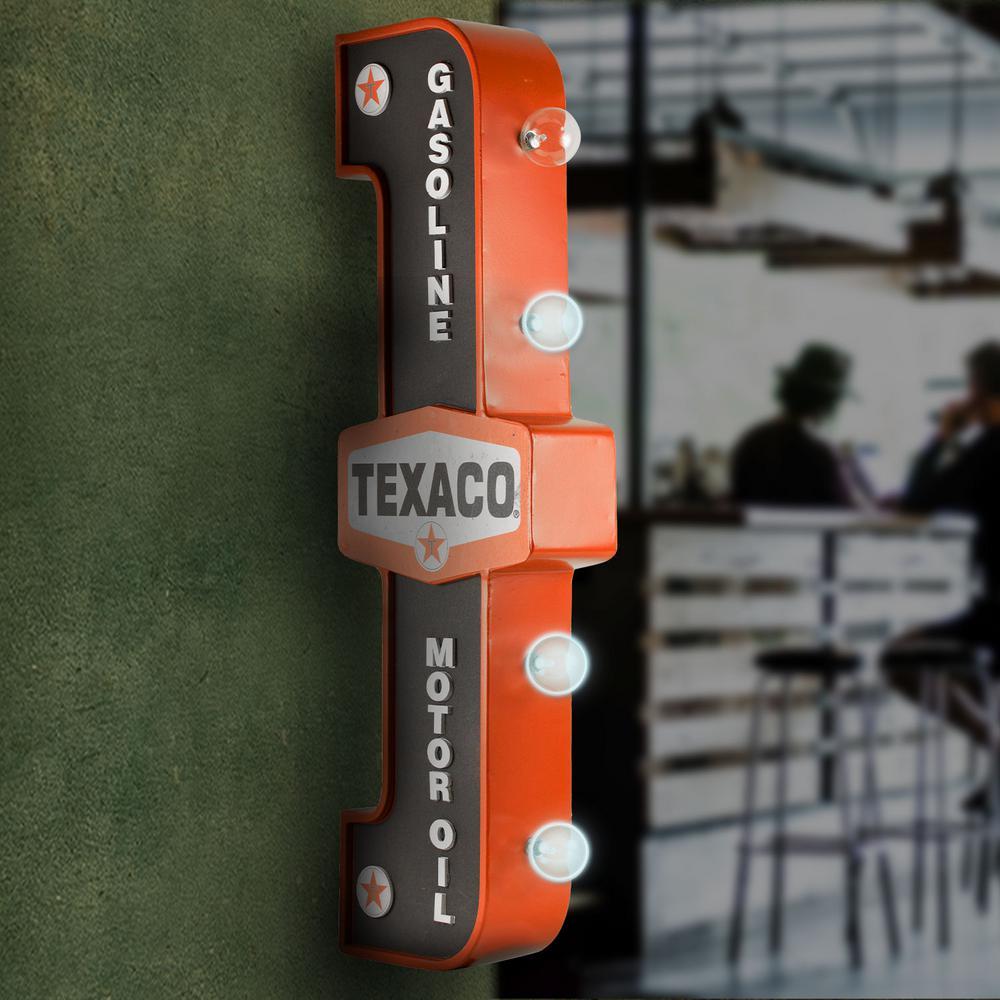 Texaco Gasoline Motor Oil Gas Station LED Sign