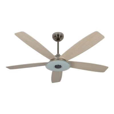 Striker 56 in. Integrated LED Indoor Silver Smart Ceiling Fan with Light Kit works with Google and Alexa