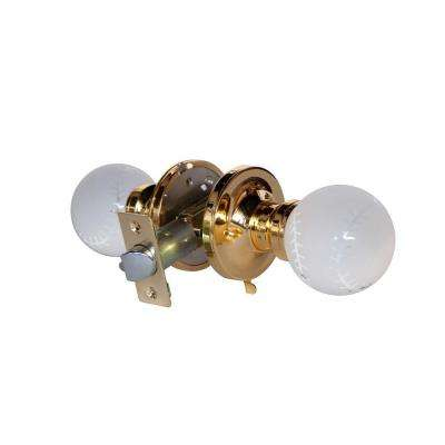 Baseball Crystal Brass Privacy Door Knob with LED Mixing Lighting Touch Activated