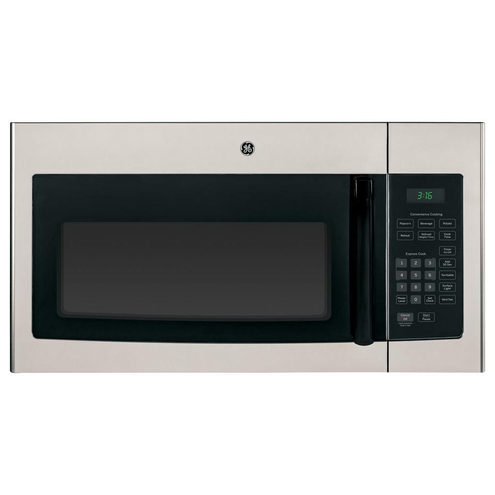 Ge 1 6 Cu Ft Over The Range Microwave In Silver Metallic