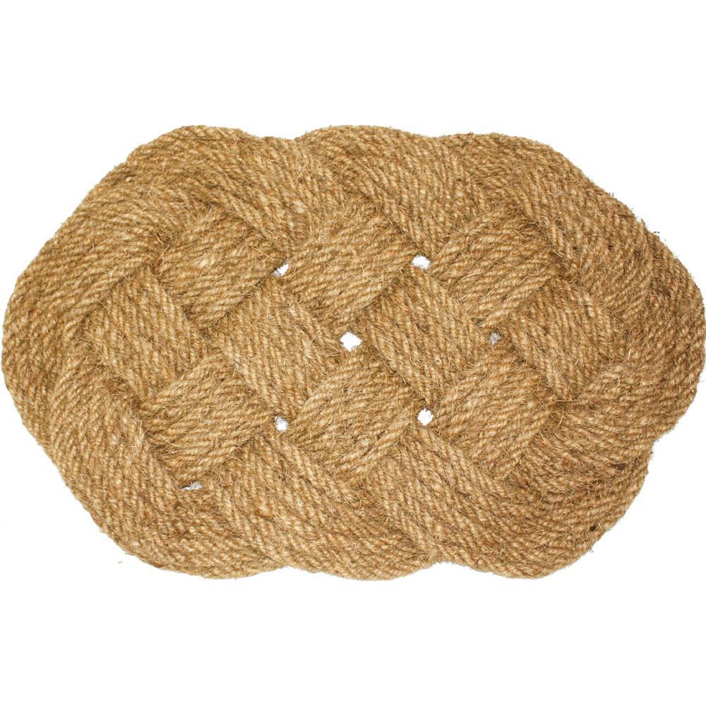 Coir Oval Knot Door Mat