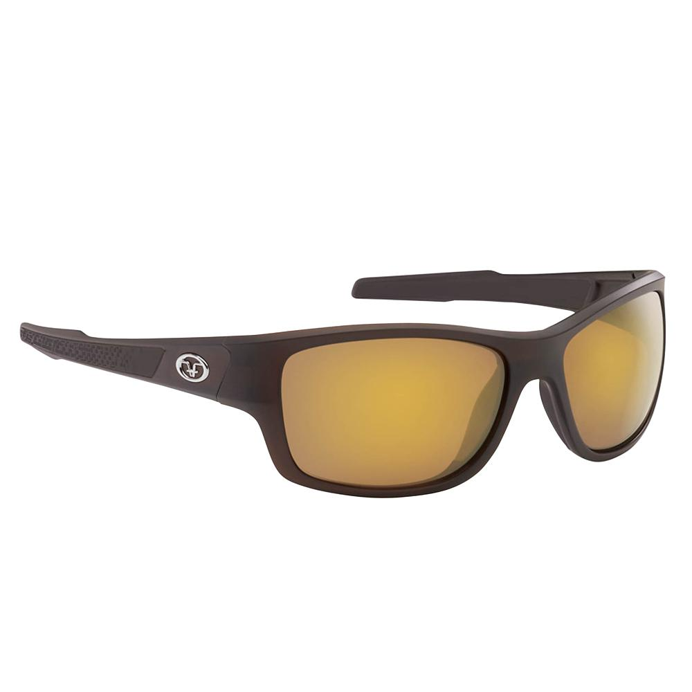 8c73c4d154df Flying Fisherman Down Sea Polarized Sunglasses Brown Frame with Amber Gold  Mirror Lens