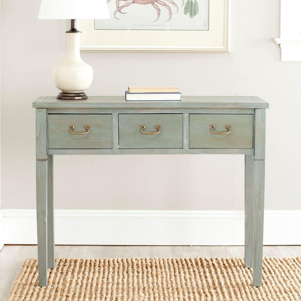 Safavieh Cindy French Grey Storage Console Table