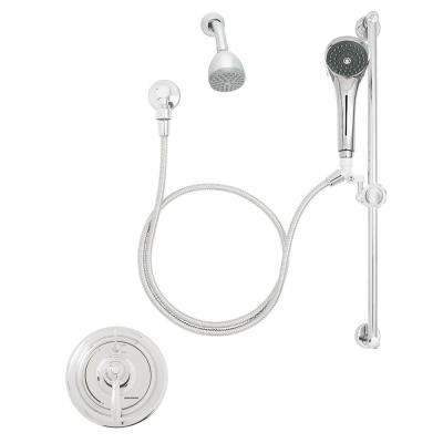 SentinelPro 1-Handle 1-Spray Shower Faucet Trim Kit in Polished Chome (Valve Included)