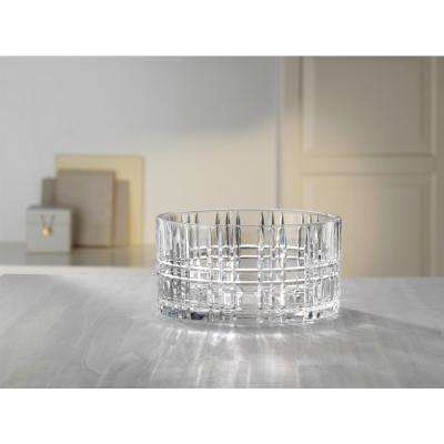 Square 9 in. Crystal Decorative Bowl in Clear