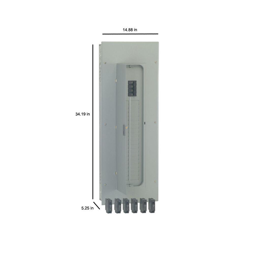 Ge Powermark Gold 200 Amp 40 Space 40 Circuit Indoor Main Breaker Value Kit Includes Select Circuit Breaker Tm4020ccu1k The Home Depot
