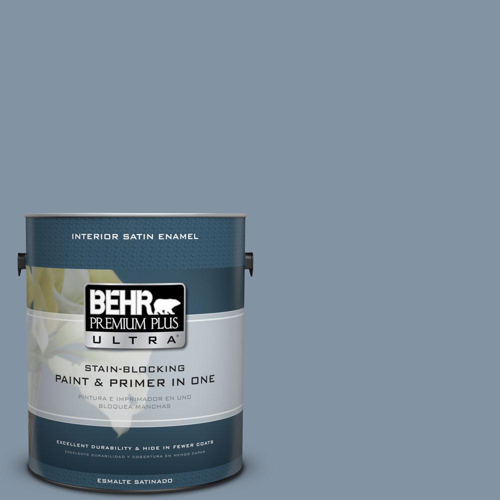 BEHR Premium Plus Ultra 1-Gal. #PPU14-6 Coastal Vista Satin Enamel Interior Paint