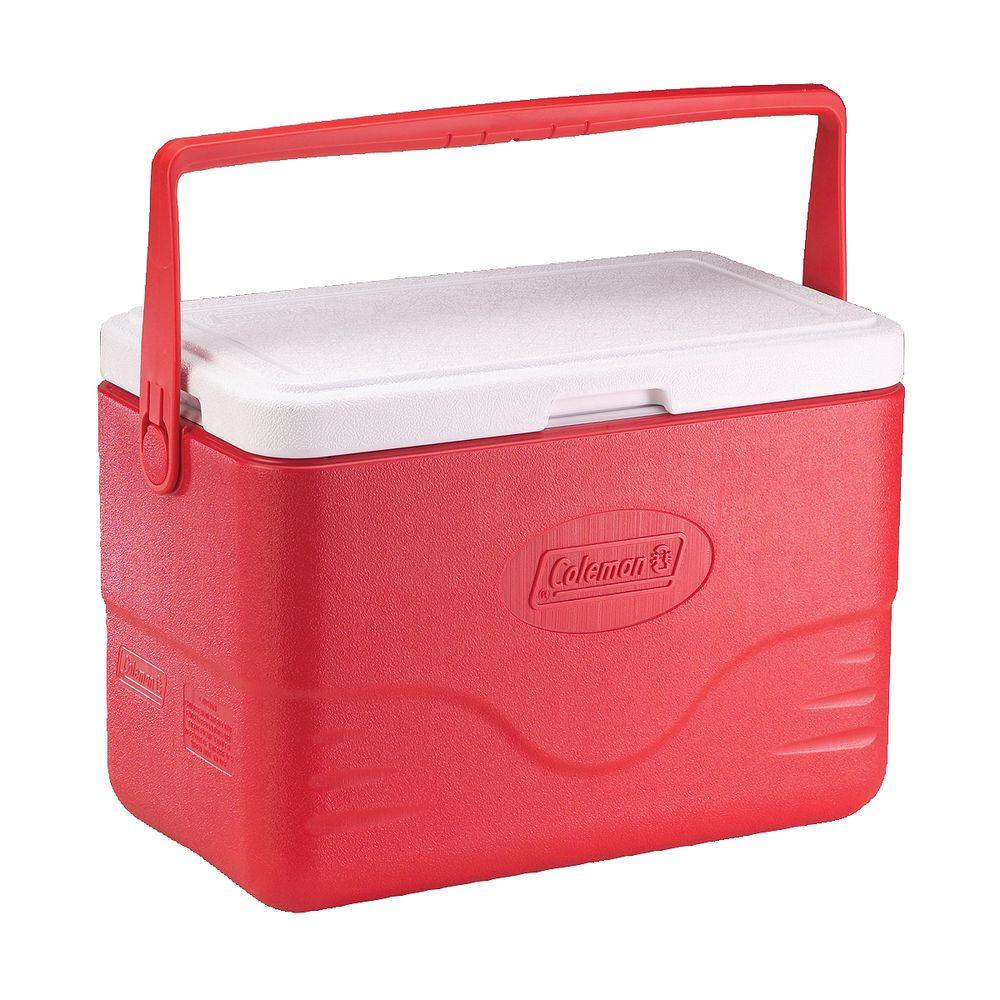 Coleman 28 Qt. Cooler with Bail Handle, Red