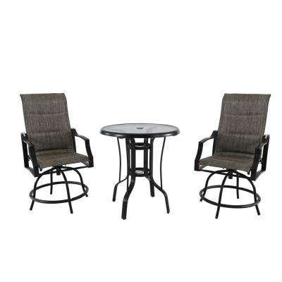 Statesville 3 Piece Steel Outdoor Bistro Set