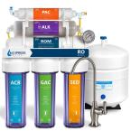 Express Water Reverse Osmosis Alkaline Water Filtration System – 10 Stage RO Water Filter with Faucet and Tank – 100 GPD