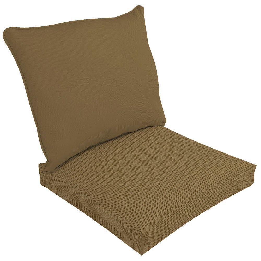 Sunbrella Canvas Cork Outdoor Cushion Set