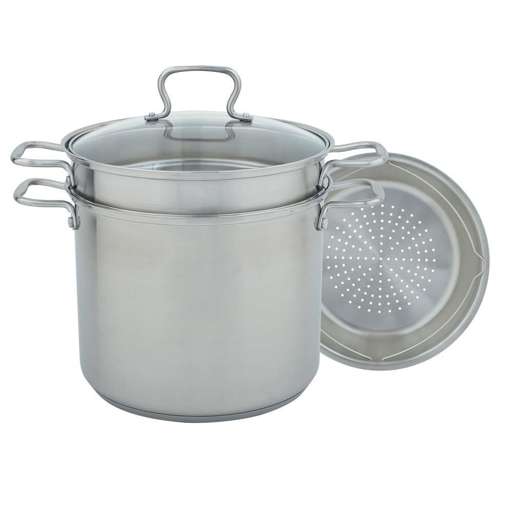 12 Qt. Multi Cooker in Stainless Steel (4-Piece)