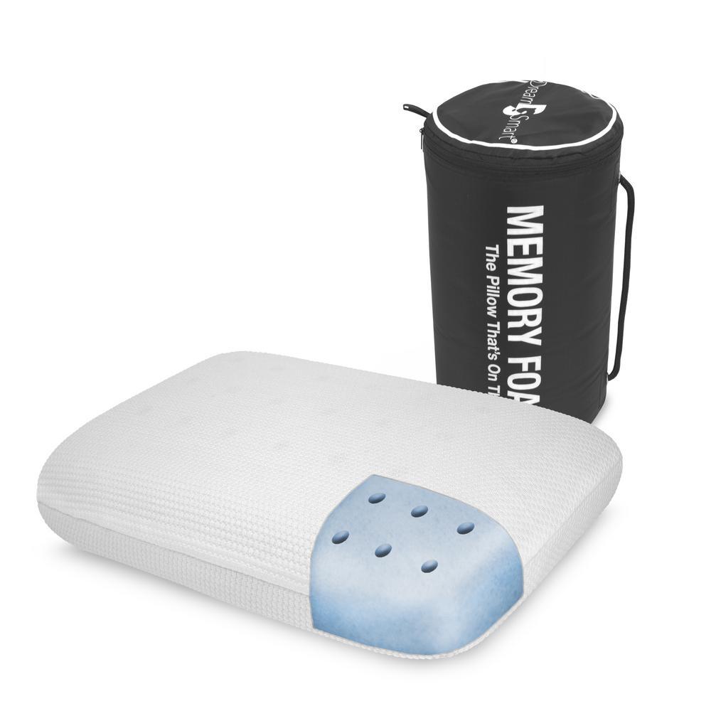 On The Go Hypoallergenic Gel Memory Foam Standard Pillow