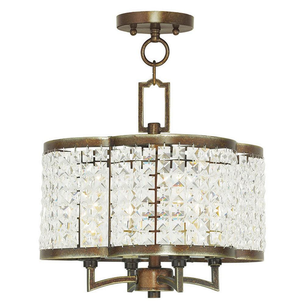 Grammercy 4-Light Palacial Bronze Mini Chandelier  sc 1 st  The Home Depot : livex lighting - azcodes.com