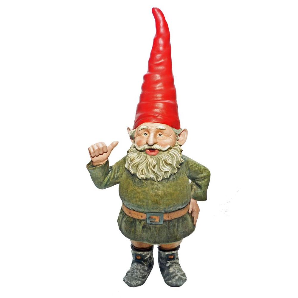 Gnome In Garden: Toad Hollow 21 In. Rumple Gnome Garden Statue-36106