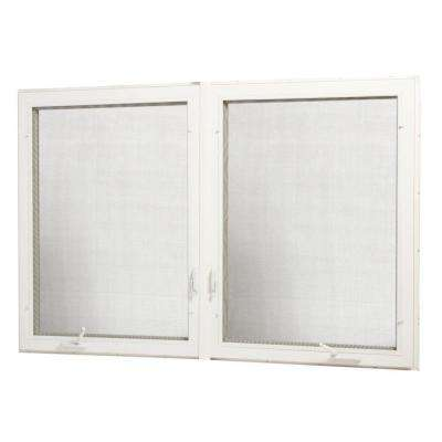 Vinyl Casement Dual Combination Window with Screen - Pre-Mulled