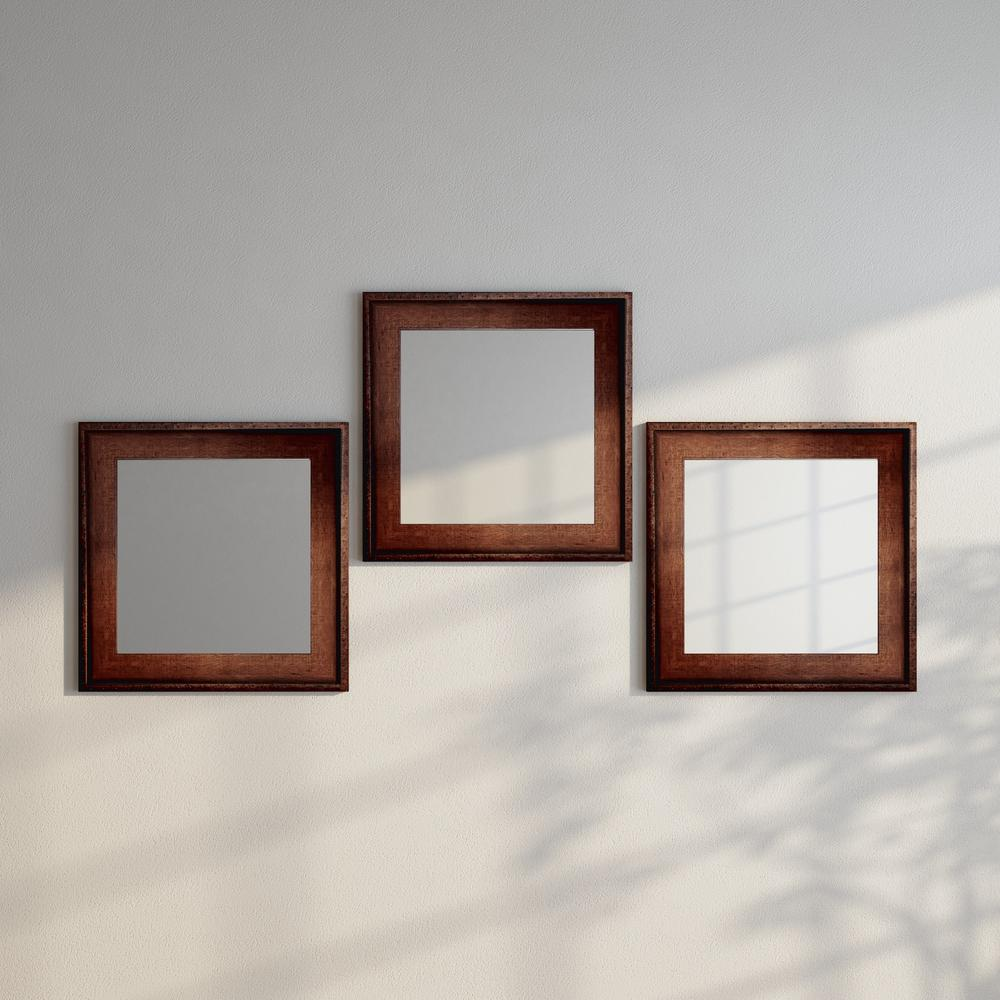 Timber Estate Square Wall Mirrors Set Of 3