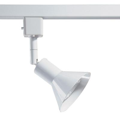 Series 17 Line-Voltage GU-10 White Track Lighting Fixture with Cone Style