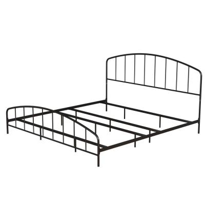 Tolland Black King Arched Spindle Bed