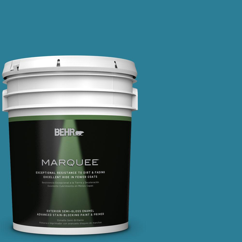 BEHR MARQUEE 5-gal. #M480-6 Valley of Glaciers Semi-Gloss Enamel Exterior Paint
