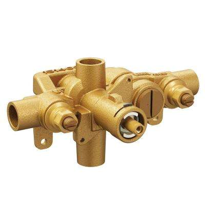 Moentrol Pressure-Balancing Volume-Control Tub and Shower Valve with Stops - 1/2 in. CC Connection
