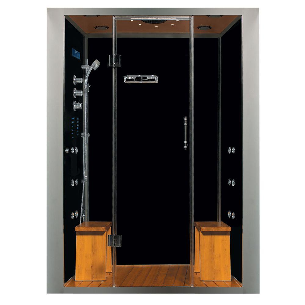 Steam planet galaxy plus 59 in x 36 in x 84 in steam for Build steam shower