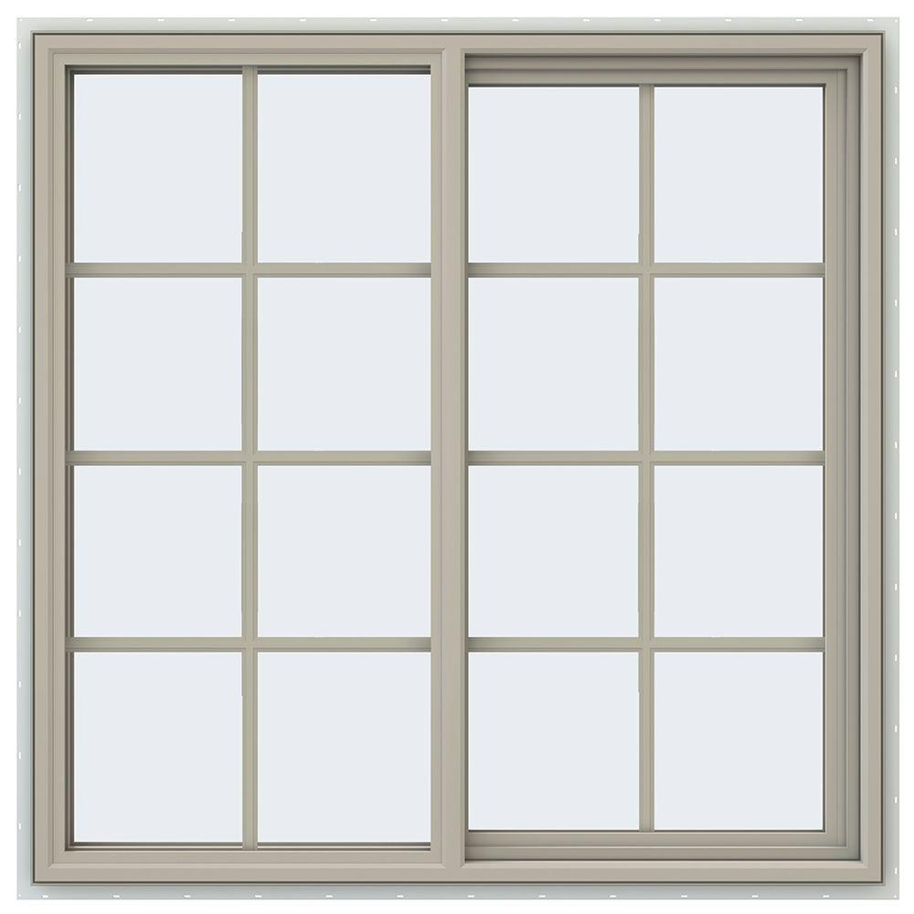 47.5 in. x 47.5 in. V-4500 Series Right-Hand Sliding Vinyl Window