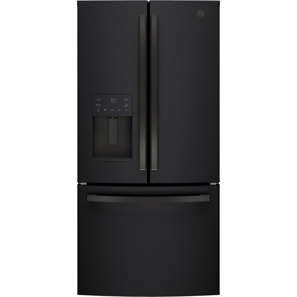 17.5 cu. ft. Counter-Depth French-Door Refrigerator in Black Slate, ENERGY STAR Fingerprint Resistant