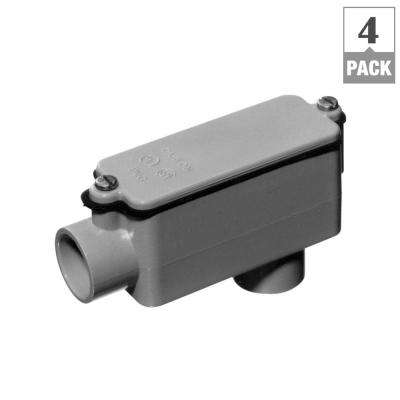 2 in. Schedule 40 and 80 PVC Type-LB Conduit Body (Case of 4)