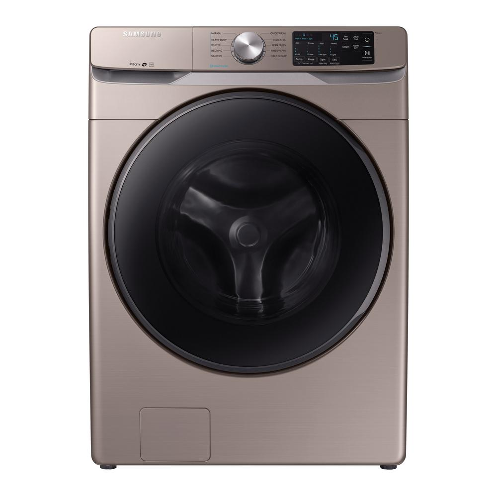 4.5 cu. ft. High-Efficiency Champagne Front Load Washing Machine with Steam, ENERGY STAR