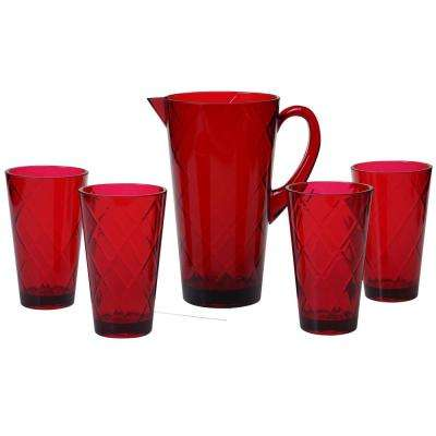 Ruby 5-Piece Drinkware Set