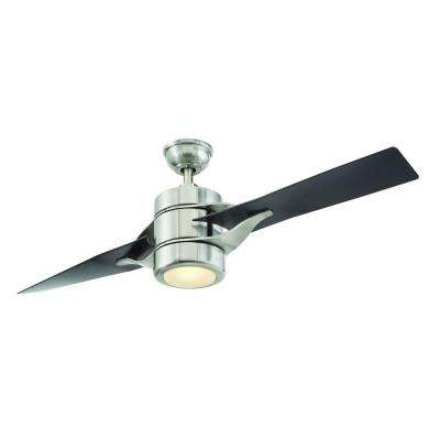 Grenada 52 in. LED Indoor Brushed Nickel Ceiling Fan with Light Kit and Remote Control
