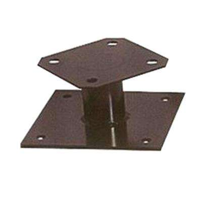 32 gal. Powder Coated Black Commercial Park Surface Mount Receptacle Kit
