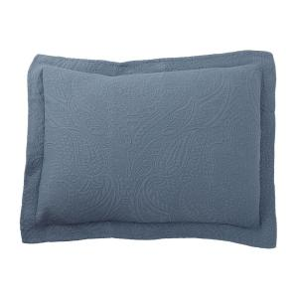 Hillcrest Matelasse China Blue Cotton Standard Sham