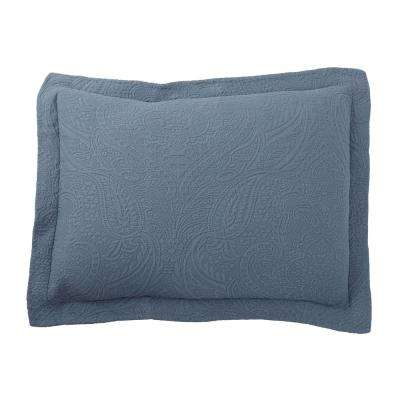 Hillcrest Matelasse China Blue Cotton Standard Sham