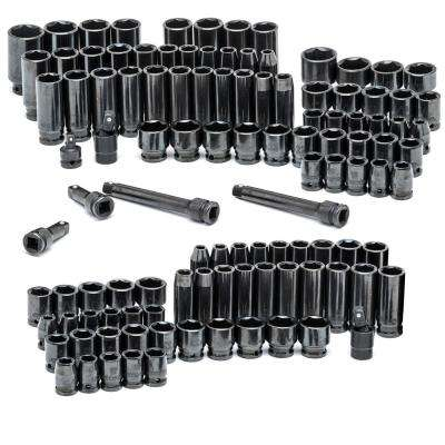 3/8 in. and 1/2 in. Drive Master Impact Socket Set (108-Piece)