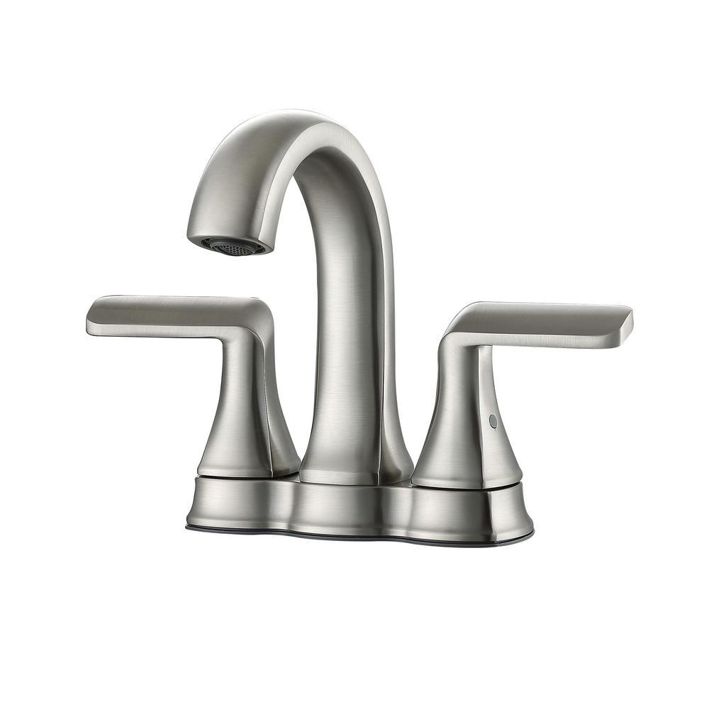 Arezzo 4 in. Centerset 2-Handle Bathroom Faucet in Brushed Nickel