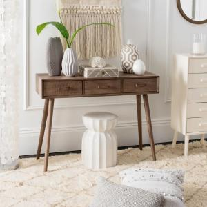Albus 3-Drawer Desert Brown Console Table