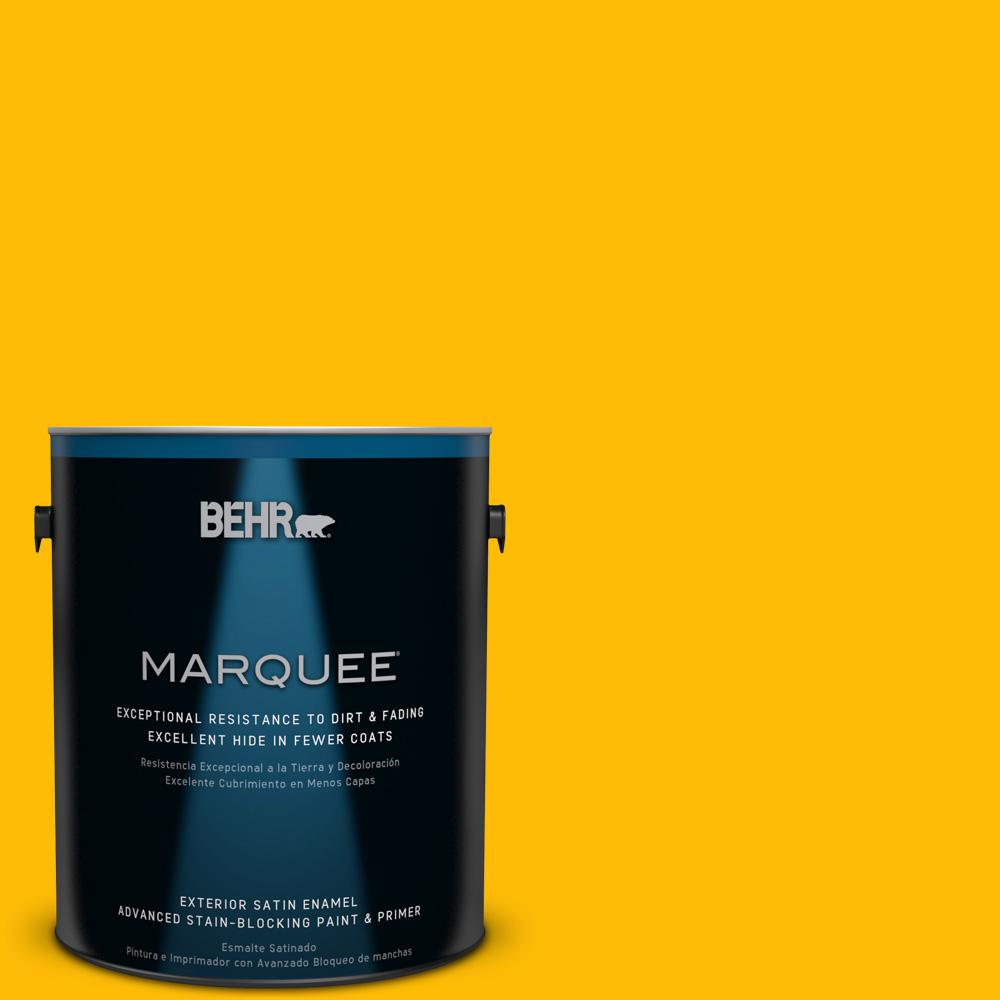 Behr Marquee 1 Gal 340b 7 Empire Yellow Satin Enamel