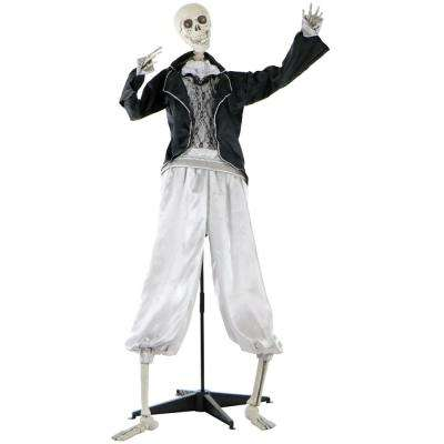 5 ft. Animatronic Talking Skeleton Groom Halloween Prop