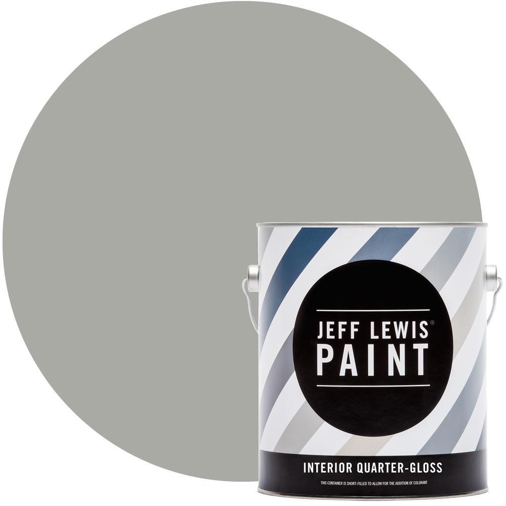 Jeff Lewis 1 gal. Smoke #410 Quarter-Gloss Interior Paint