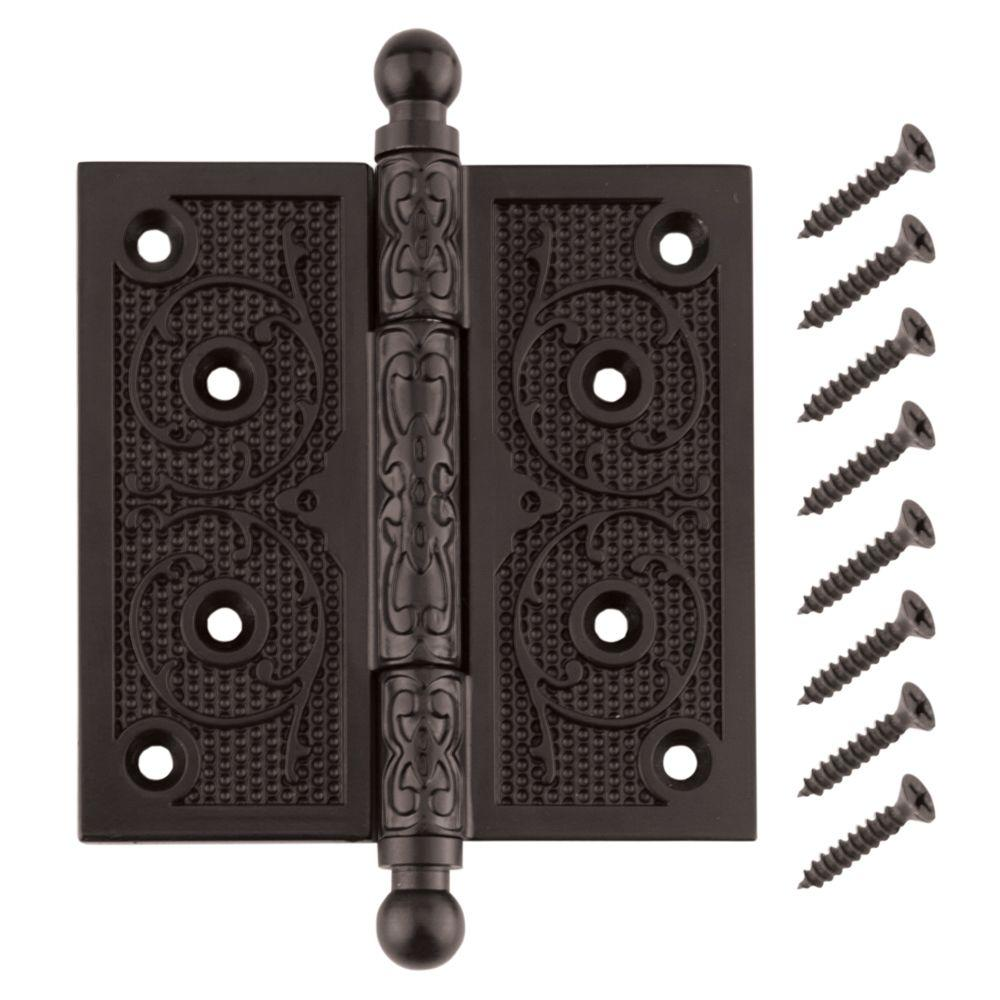 Delicieux Oil Rubbed Bronze Decorative Square Corner Door Hinge With Finial