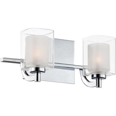 Kolt 2-Light Polished Chrome Vanity Light