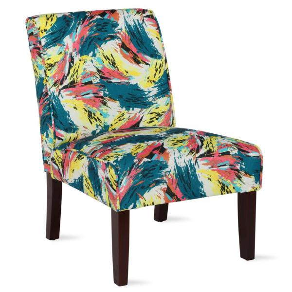 Dorel Living Teagan Abstract Armless Accent Chair Fh164 Pt