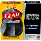 30 Gal. ForceFlexPlus Black Drawstring Large Outdoor Trash Bags (50-Count)