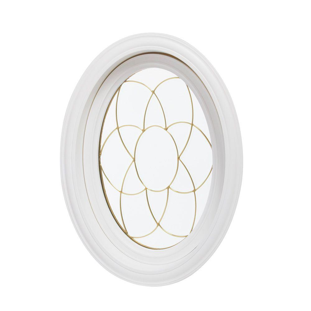 20 in. x 28.5 in. Oval Decorative Picture Vinyl Window -