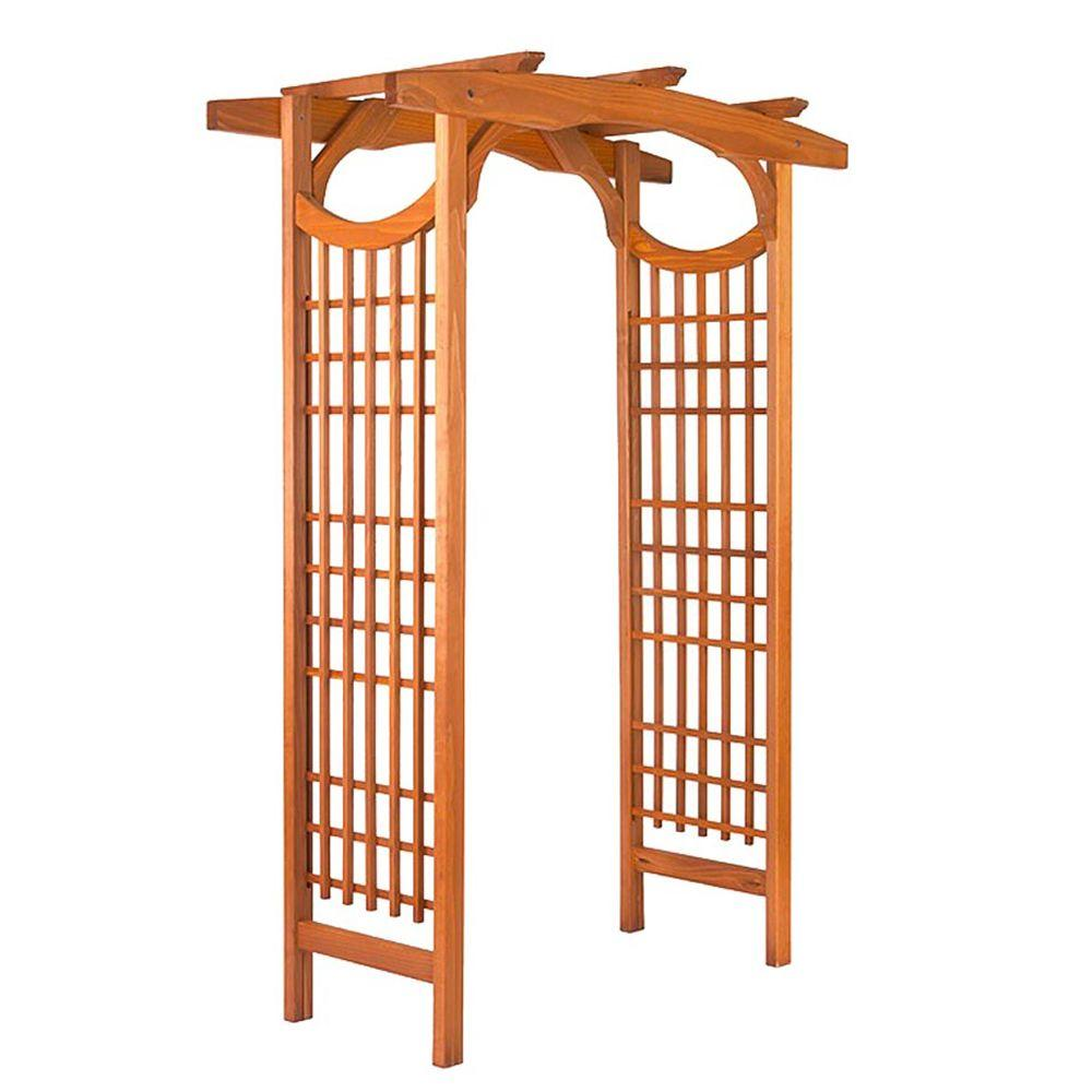null American Bungalow 83 x 59 in. Outside Wooden Garden Arbor