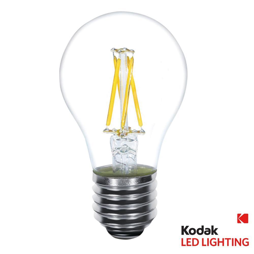 Bulbrite 40w Equivalent Warm White Light A19 Dimmable Led: Kodak 40W Equivalent Warm White A19 Clear Filament